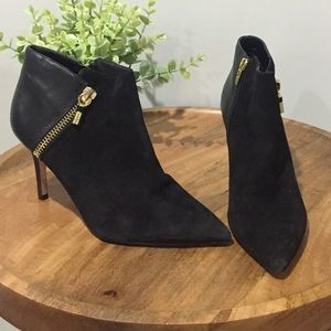 Marc Fisher Heti Black Ankle Boots w/Gold Hardware